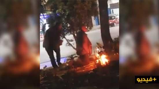 مؤسف.. متشردون يخربون حديقة 3 مارس التي تم تجهيزها حديثا بإشعالهم النار وسطها