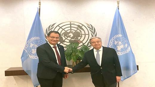 الأمين العام للأمم المتحدة يستقبل محمد بودرا بأمريكا