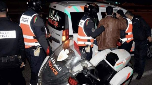شرطة الناظور توقف احد المتهمين بإطلاق الرصاص بأزغنغان