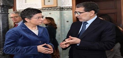 بعد تصريحاتها الغاضبة من ترسيم المغرب لحدوده البحرية.. وزيرة الخارجية الإسبانية تصل الرباط