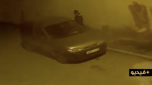 شاهدوا.. لص محترف يسرق سيارة بسلوان