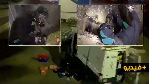 """شاهدوا.. اختفاء """"حراك"""" مغربي في قناة للواد الحار يستنفر سلطات مليلية"""