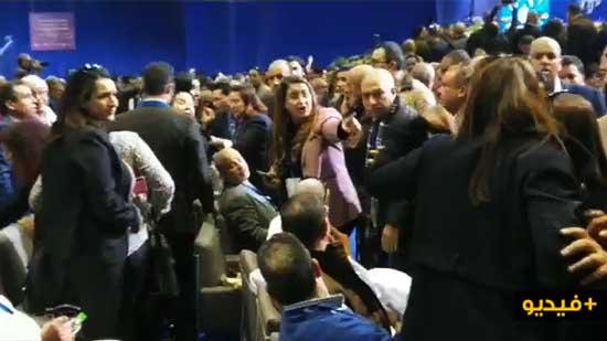 """انطلاق أشغال مؤتمر """"البام"""" على وقع احتجاجات وتبادل الاتهامات بين تيارات الحزب"""