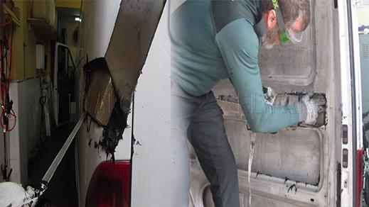 بالصور.. توقيف شخصين حاولا تهريب كمية مهمة من الحشيش على متن سيارتهم