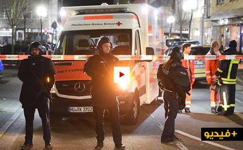 """شاهدوا الفيديو.. مقتل 11 شخاصا في إطلاق نار على مقهيين لـ """"الشيشا"""" بألمانيا"""