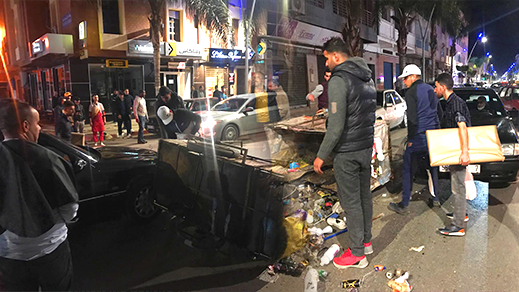 حادثة سير بالناظور بين سيارة وعربة لنقل المتلاشيات تسفر عن خسائر مادية