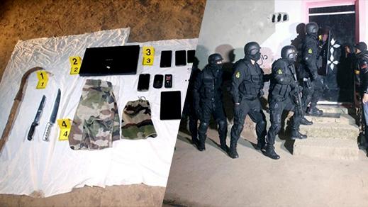 مكتب الأبحاث القضائية ينشر صور تفكيك خلية ارهابية موالية لداعش