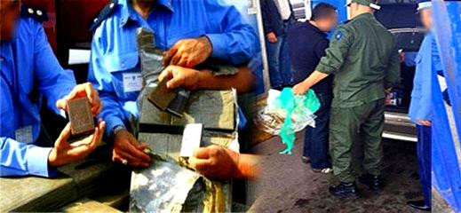 اعتقال 3 مغاربة على متن 3 سيارات محملة بكميات من المخدرات بالميناء المتوسطي