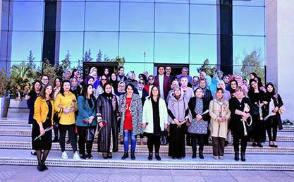 بمناسبة اليوم العالمي للمرأة.. بعوي يحتفي بعضوات وموظفات مجلس الجهة