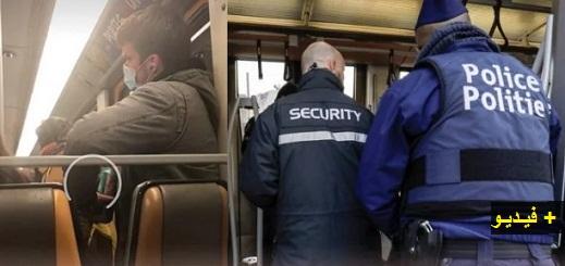 """شاهدوا.. شخص يشتبه في نشره لفيروس """"كورونا"""" داخل حافلة والشرطة تعتقله ببلجيكا"""