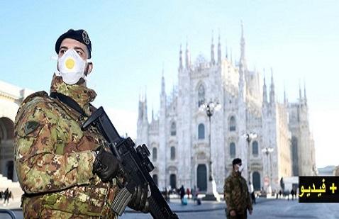 """بالفيديو.. إيطاليا تحت """"الحظر"""" والبلاد بأكملها تدخل """"الحجر الصحي"""" بسبب كورونا"""