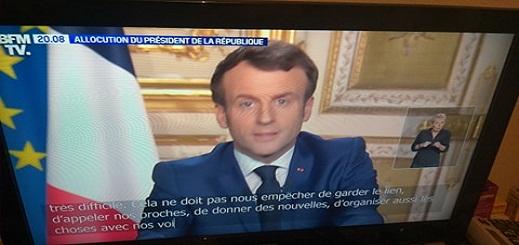 ماكرون يعلن حظر التجول في كامل فرنسا وغلق فضاء شينغن