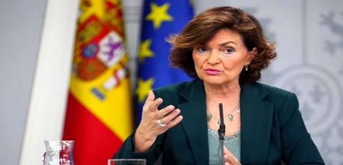 إصابة نائبة رئيس الحكومة الإسبانية كارمن كالفو بفيروس كورونا