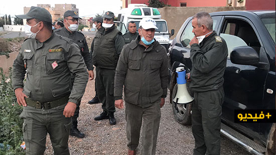 """القوات العمومية تتدخل بحزم لتطبيق إجراءات """"حالة الطوارئ الصحية"""" بالمنطقة الحدودية بني نصار"""