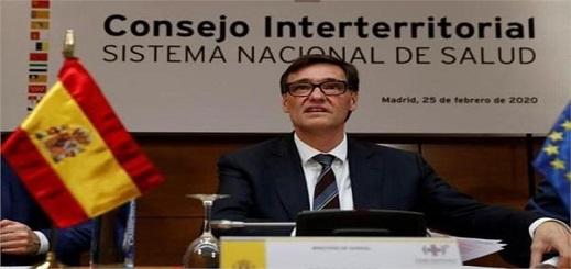 وزير الصحة الإسباني: دخلنا فعليا مرحلة تباطؤ انتشار عدوى كورونا