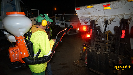 شركة النظافة كازا تيكنيك تعقم شاحناتها  ومقرها وتوفر معدات لحماية عمالها من فيروس كورونا