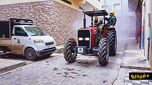 عملية تعقيم واسعة لحي لعري الشيخ بالناظور بعد اكتشاف 13 حالة إصابة مؤكدة بفيروس كورونا
