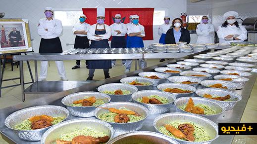 فدرالية الطبخ بالمغرب توزع وجبات على المحتاجين والمتضررين من الجائحة بالناظور