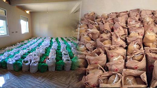 بمناسبة شهر رمضان.. فعاليات ومحسنون وأبناء الجالية يوفرون حوالي 550 قفة للأسر المعوزة بجماعة تزطوطين