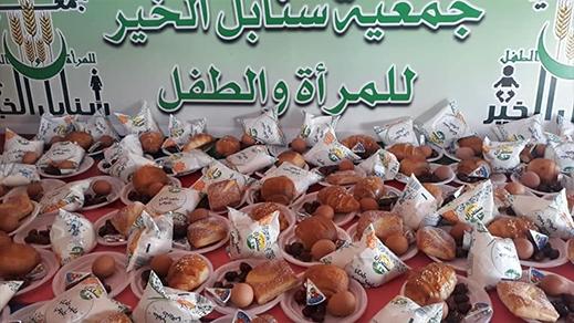 جمعية سنابل الخير للمرأة والطفل بتاويمة تواصل حملة الإفطار وتقوم بتوصيلها للفئات المستهدفة