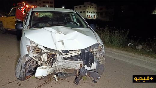 فرار سائق سيارة ومرافقه بعد تعرضهم لحادثة سير بحي ايكوناف بالناظور