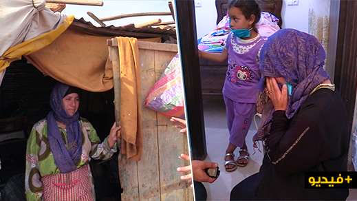 """جمعية """"حق اليتيم والضعيف"""" تسلم منزلا لأم لـ4 أطفال كانوا يعيشون في """"كوخ"""" بضواحي الناظور"""