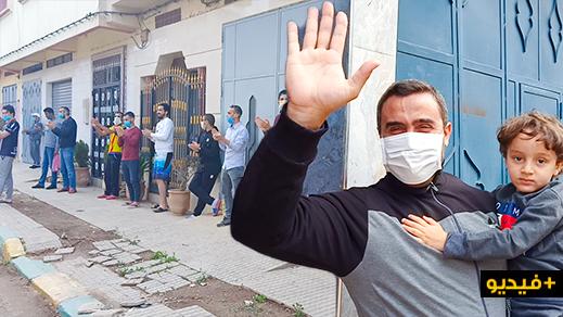استقبال أربعة متعافين من فيروس كورونا بالهدايا والزغاريد في حي الخطابي بالناظور