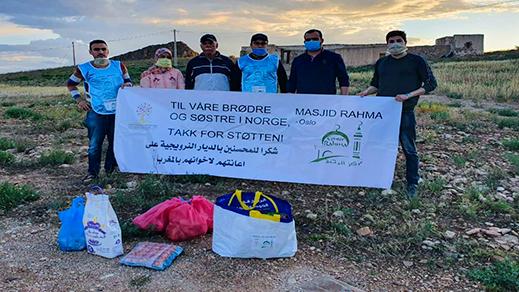 """مغاربة """"أسلو"""" يدعمون حملة إنسانية كبرى لتوزيع المُؤَن الغذائية على المعوزين بالناظور وعدة مدن مغربية"""