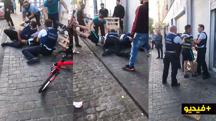 مغاربة يدخلون في شجار مع الشرطة البلجيكية بعد محاولتهم إعتقال شخص بأندرليخت