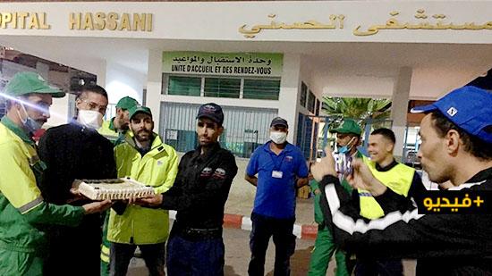 بعد تكريمه مُعالجي ضحايا كورونا بالناظور.. الناشط زناي يحتفي بعمال النظافة المُجابهين للجائحة