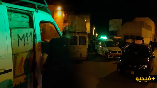 """شاهدوا.. حادث سير يوقع بسيارة محملة بكميات كبيرة من """"الحشيش"""" في قبضة أمن الناظور"""
