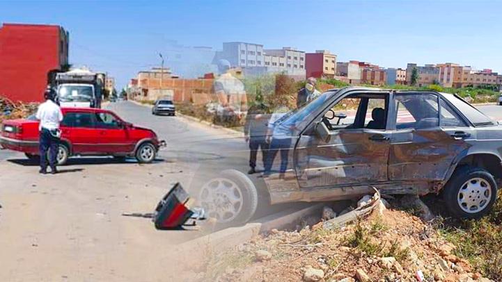 بسبب غياب التشوير الطرقي.. حادثة سير مريعة تعجل بنقل سائق إلى مستشفى العروي