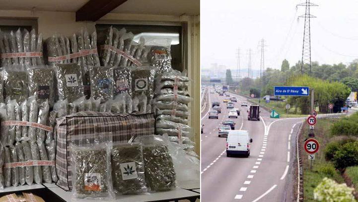 فرنسا.. توقيف شاحنة على متنها نصف طن من المخدرات مدسوسة وسط البطيخ والبذنجان
