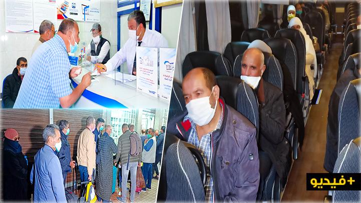 شاهدوا.. أزيد من 100 مهاجر مغربي يعودون الى بلجيكا عبر رحلات جوية
