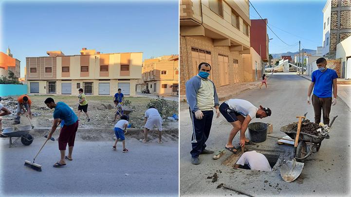 """براقة: شباب الحي ينضمون لمبادرة """"نظافة حينا تهمنا"""""""