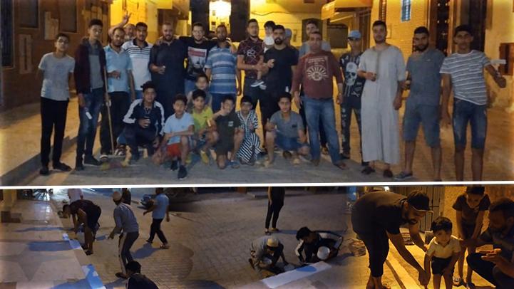 شباب الأمل بسلوان يطلقون مبادرة لتنظيف وصيانة حيهم