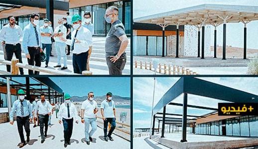زرو يطلع على سير أشغال بناء مقاهي ومطاعم بكورنيش الناظور ويؤكد قرب إفتتاحها
