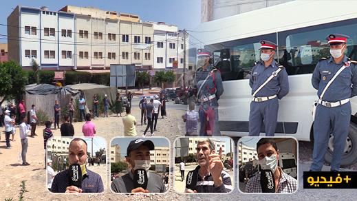"""نشطاء يحتجون ضد خروقات شاحنات مقلع للرمال في """"بويفار"""""""