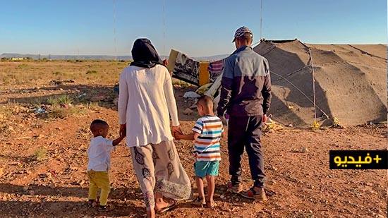 مأساة أسرة من 4 أفراد تعيش في فقر مدقع وسط خيمة بحي ضرضورة بسلوان