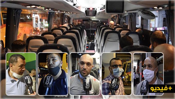شاهدوا.. حافلات نقل المسافرين بالناظور تستأنف عملها في ظل إجراءات وقائية مشددة