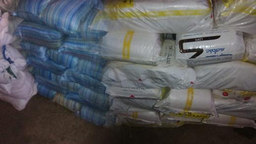 إعتقال سائق شاحنة محملة بثلاثة أطنان من الأكياس البلاستيكية ببوعرك