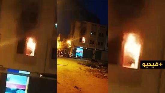 شاحن هاتف يتسبب في إندلاع حريق في منزل مكون من طابقين  بحي تاويمة