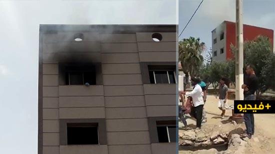 شاهدوا.. حريق يشب بمنزل بجماعة سلوان والوقاية المدنية تنجح في إخماده
