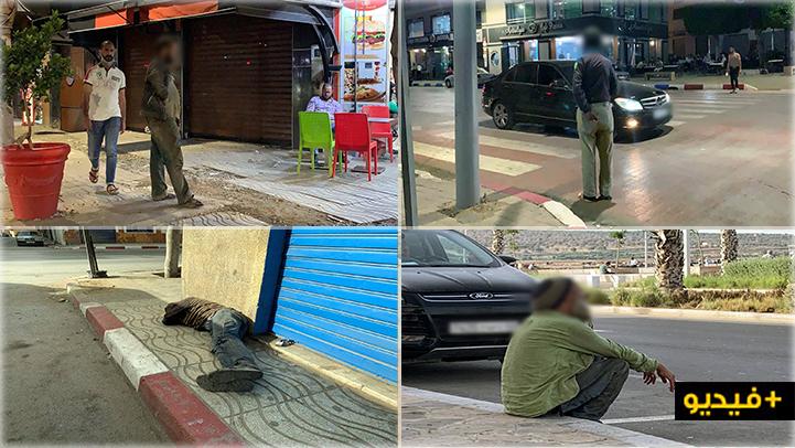 عودة مكثفة للمشردين والمجانين إلى شوارع الناظور ومواطنون يستنكرون