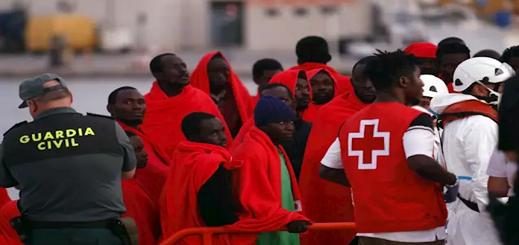 وصول 381 قارب الى إسبانيا خلال فترة الحجر الصحي على متنها 7214 مهاجر سري