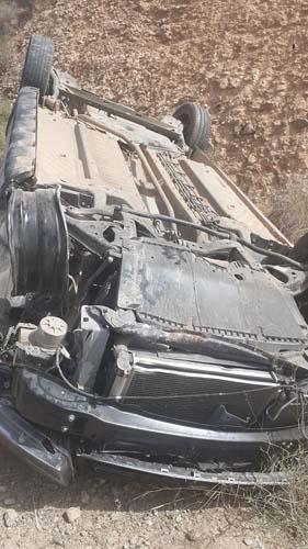 نقل سائق سيارة على وجه السرعة الى المستشفى الحسني بعد إصابته في حادثة سير بأركمان