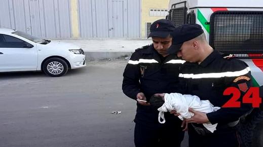 العثور على رضيعة حديثة الولادة مرمية قرب مقر للدرك الملكي بمدينة وجدة