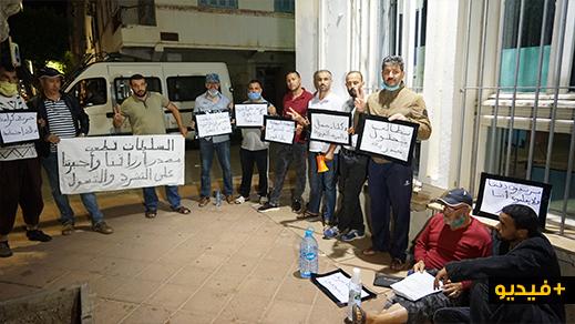 بعد منعهم من نشاطهم التجاري.. الفراشة يدخلون في اعتصام ليلي أمام عمالة الناظور