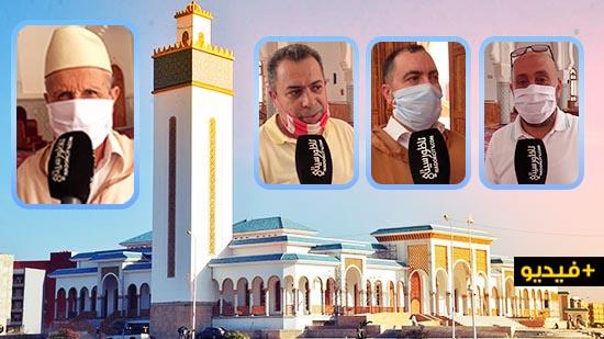 شاهدوا.. هذه أول صلاة جماعية بمساجد الناظور بعد تخفيف الحجر الصحي
