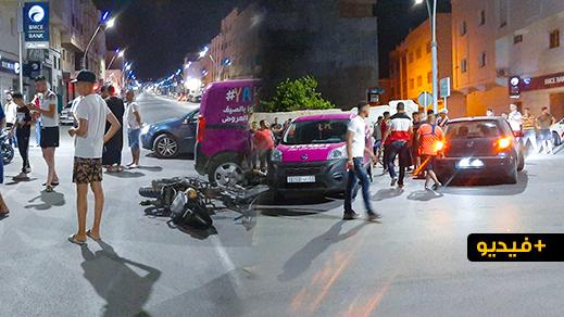 نقل سائق دراجة نارية في حالة حرجة إثر إصابته في حادثة خطيرة بأزغنغان